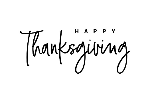 Thanksgiving typography. Happy Thanksgiving Day hand painted lettering.