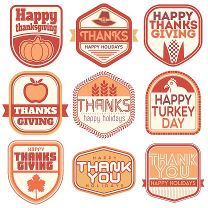 Thanksgiving Vector Badges