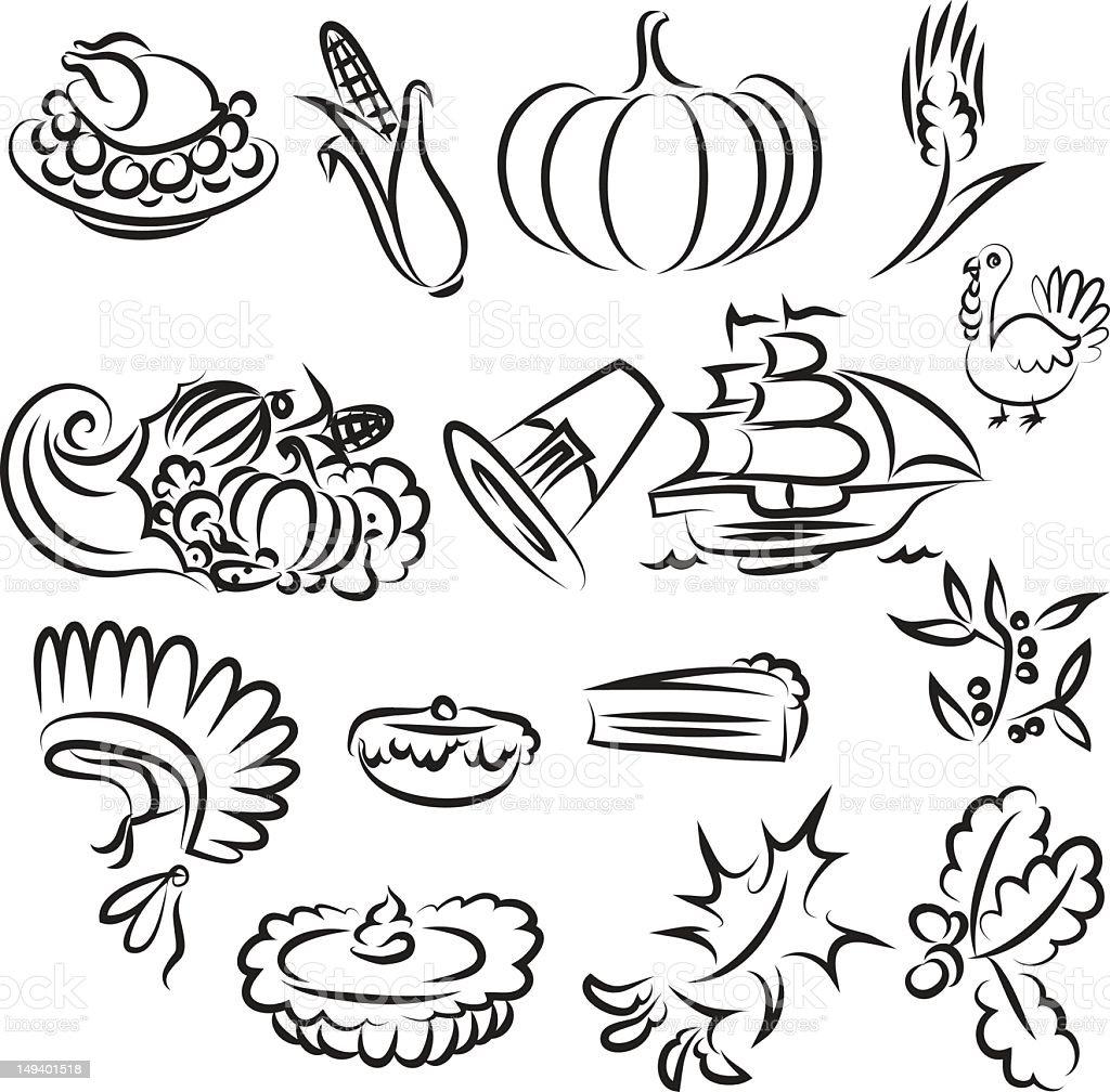 thanksgiving royalty-free thanksgiving stock vector art & more images of abundance