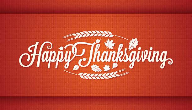 Thanksgiving vintage card lettering background vector art illustration