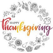 istock Thanksgiving wreath stock illustration 1277286998
