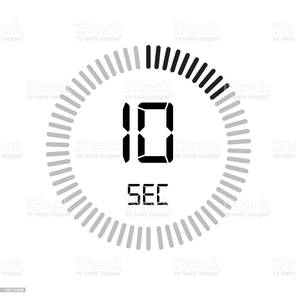 the 10 seconds icon digital timer clock and watch timer countdown