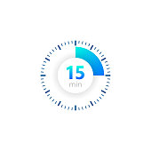 istock The 15 minutes, stopwatch vector icon, digital timer. clock and watch, timer, countdown symbol. Vector illustration 1184860117