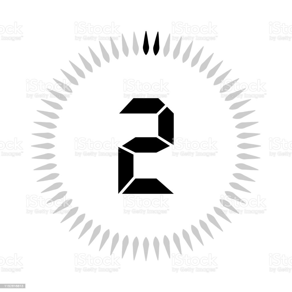 The 2 Minutes Or Seconds Timer Stock Illustration - Download