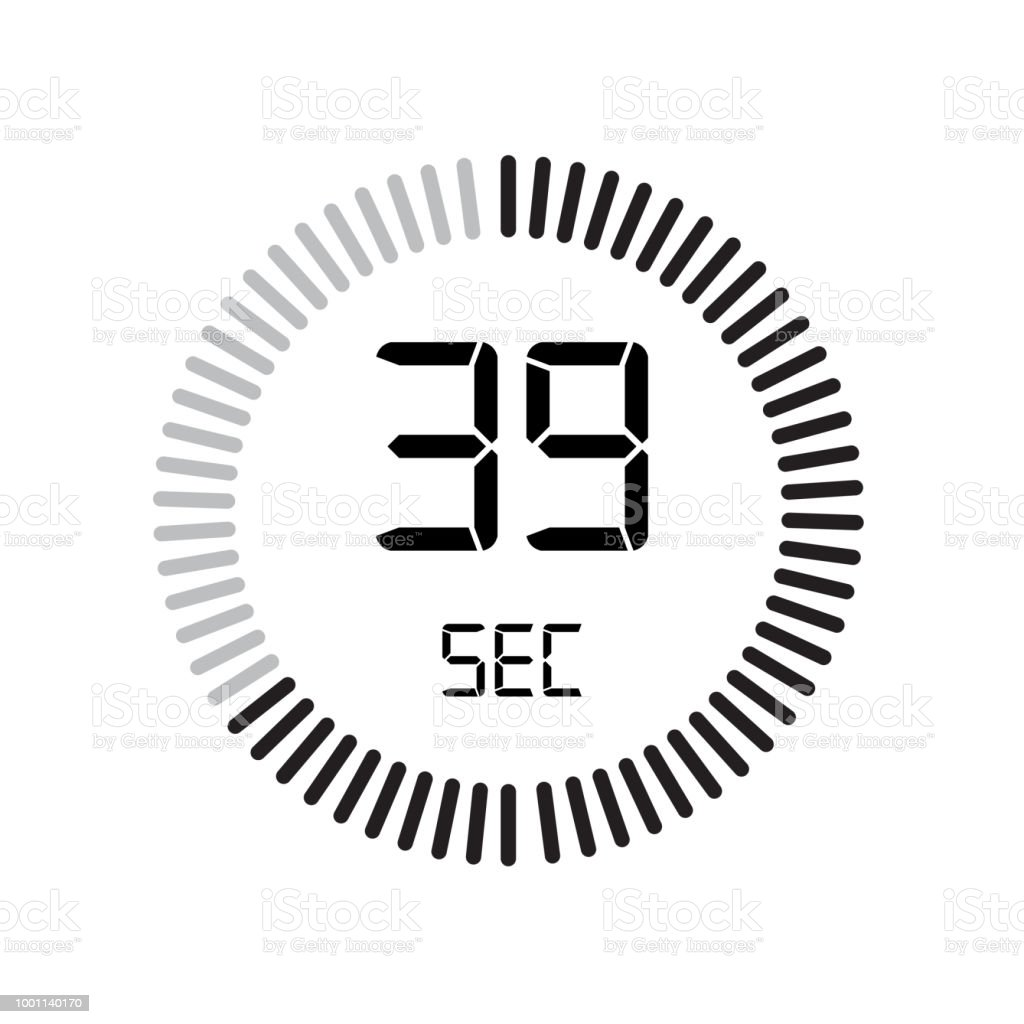 the 39 seconds icon digital timer clock and watch timer