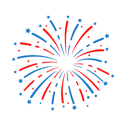 The 4 th of july. American flag fireworks. For celebrating America's Independence Day