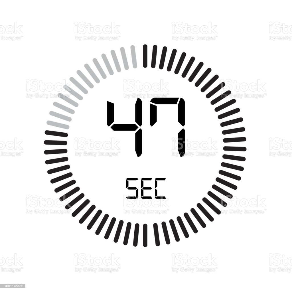the 47 seconds icon digital timer clock and watch timer countdown