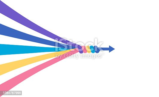 istock The abstract concept of teamwork, partnership 1284787995