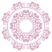 the abstract design of a circular pattern.
