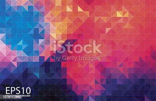 The abstract geometric colorful pattern background.