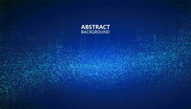Die abstrakte Halbton Hintergrund besteht aus verschiedenen Punkten. – Vektorgrafik
