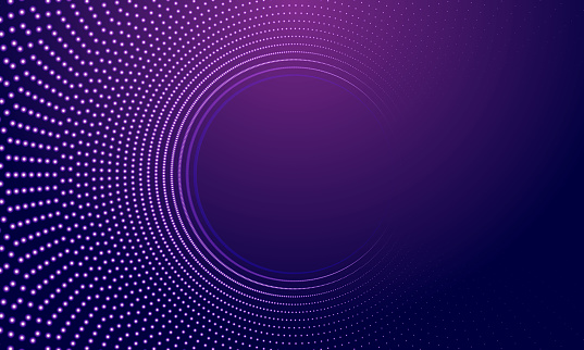 The abstract halftone background