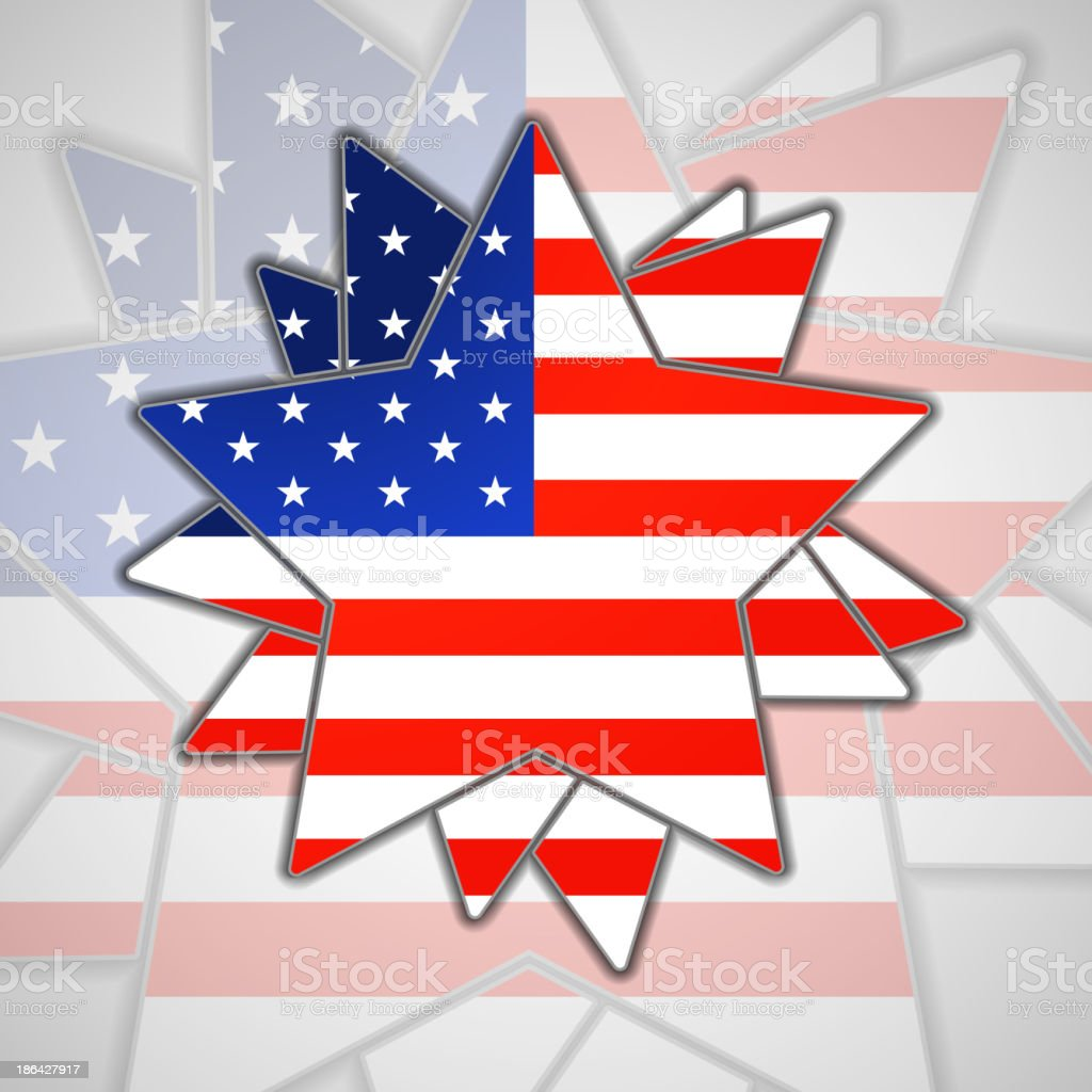 The abstract star with american flag royalty-free stock vector art