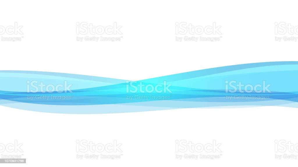 The Abstract vector image  Blue wave on white background. vector art illustration