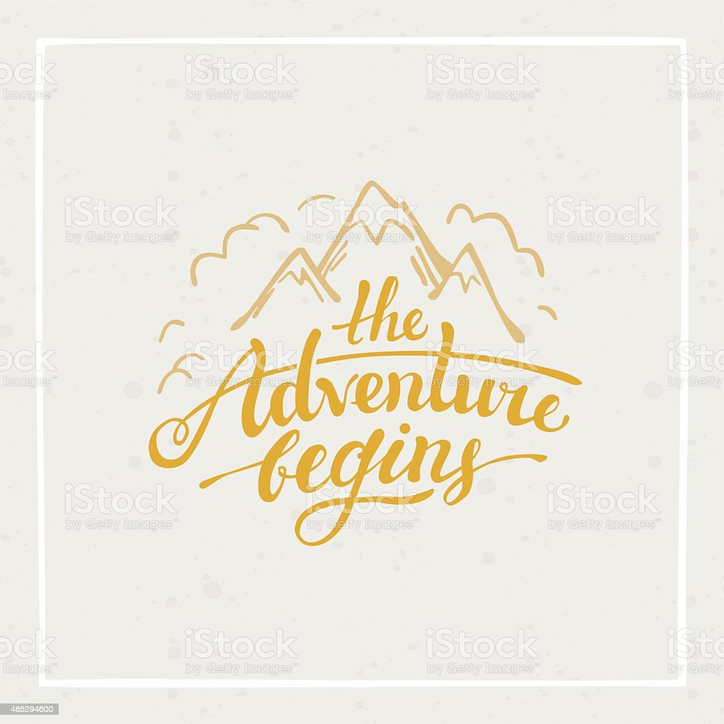 The adventure begins vector art illustration