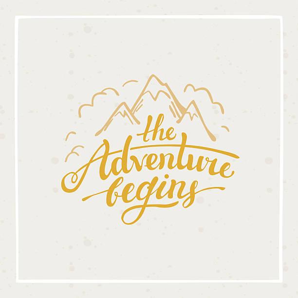 Das Abenteuer beginnt – Vektorgrafik