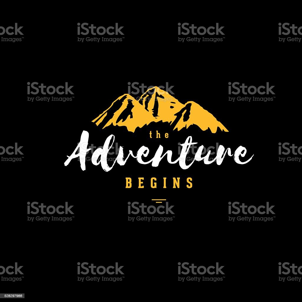 A aventura preto e amarelo - ilustração de arte em vetor