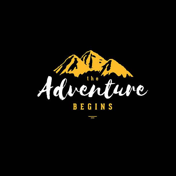 Das Abenteuer schwarz gelb – Vektorgrafik