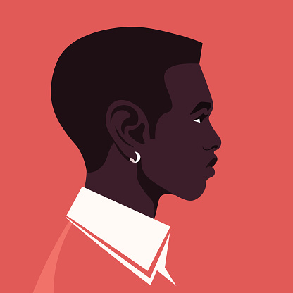 The African guy's head in the profile. Avatar.