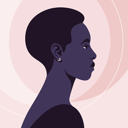 The African woman's head in the profile. Avatar.