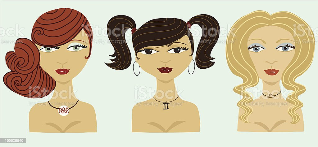 The Air Signs vector art illustration