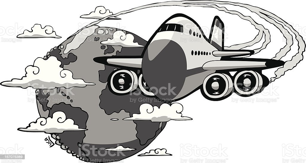 The Airplane royalty-free stock vector art