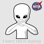 The alien depicts wisdom: I won`t tell it anybody