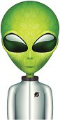 The Alien in a spacesuit cartoon character