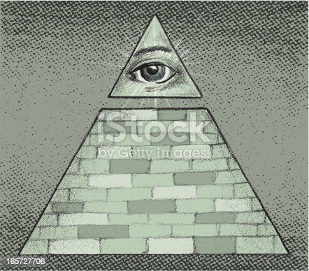 this is a pyramid with a eye.