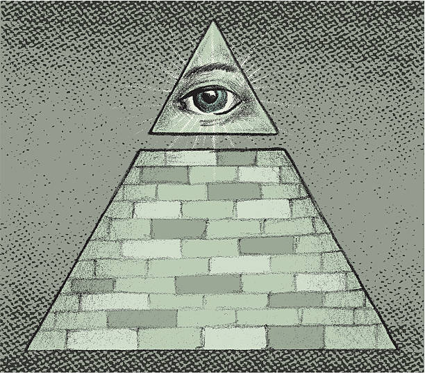 all seeing eye - freemasons stock illustrations