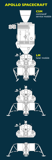 The Apollo spacecraft was designed to take man to the Moon The Apollo spacecraft was designed to take man to the Moon. Spacecraft consisted of a combined command and service module (CSM) and a lunar module (LM) light micrograph stock illustrations