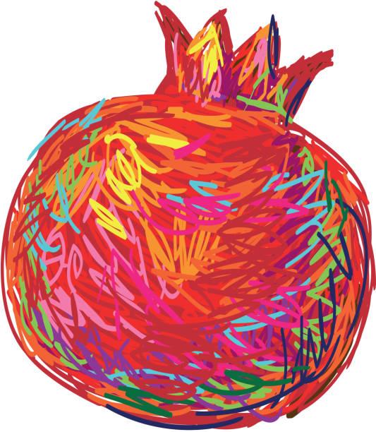 Pomegranate Clip Art, Vector Images & Illustrations - iStock