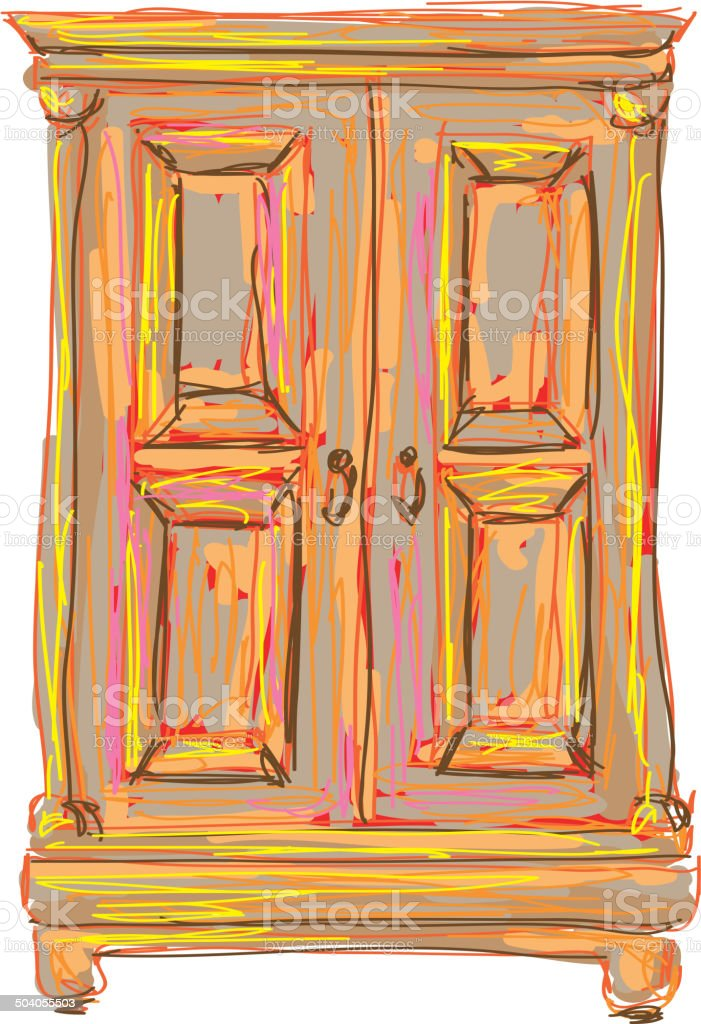 The art wardrobe royalty-free the art wardrobe stock vector art & more images of apartment