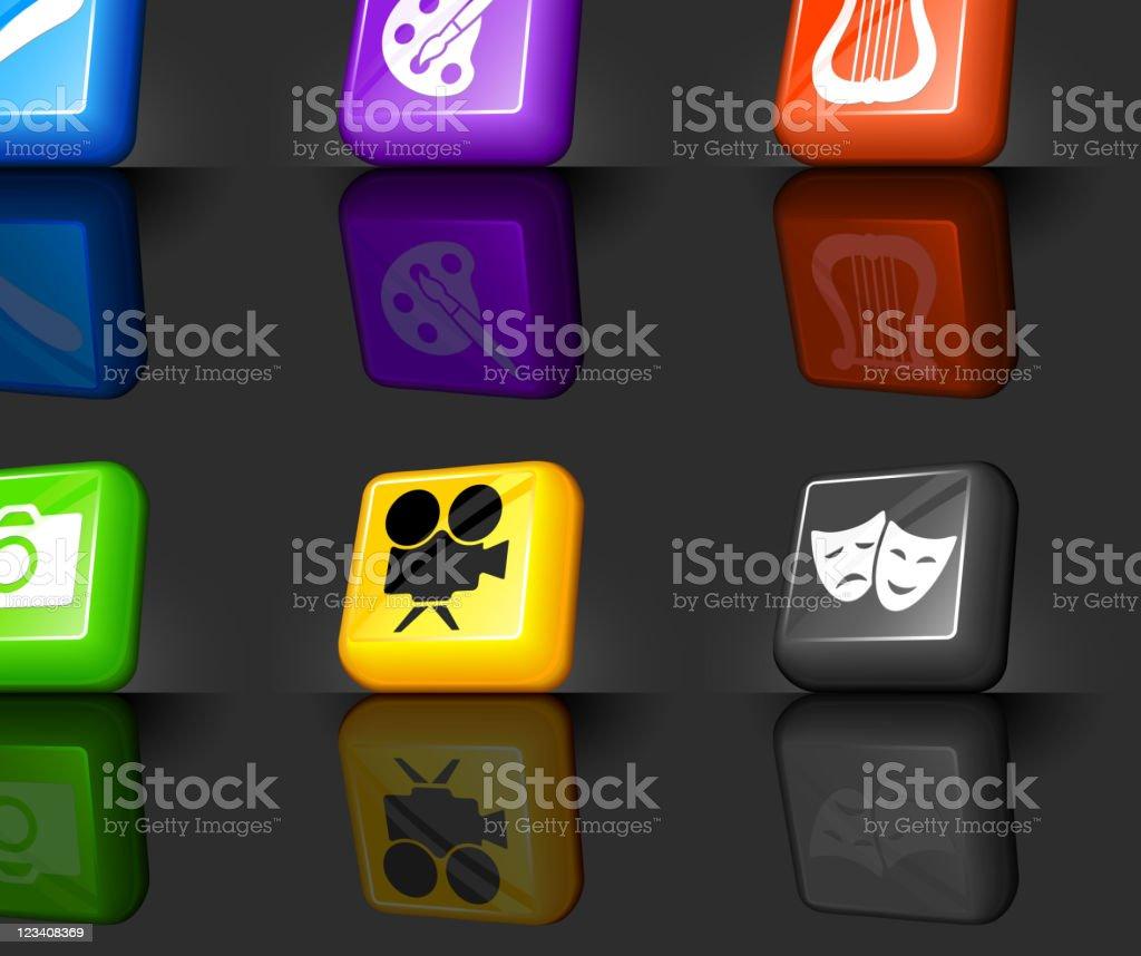 the arts internet royalty free vector icon set royalty-free stock vector art