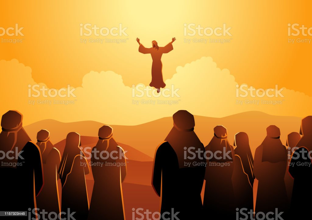 The ascension of Jesus - Royalty-free Ambiente dramático arte vetorial