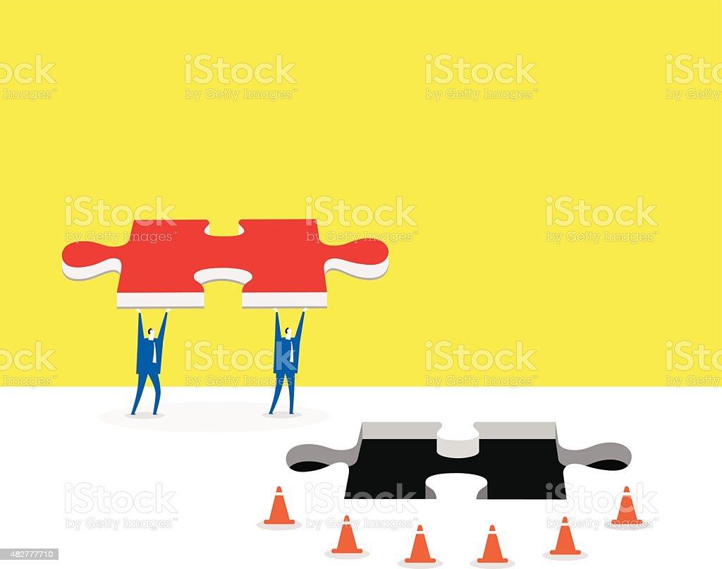 The assistance vector art illustration