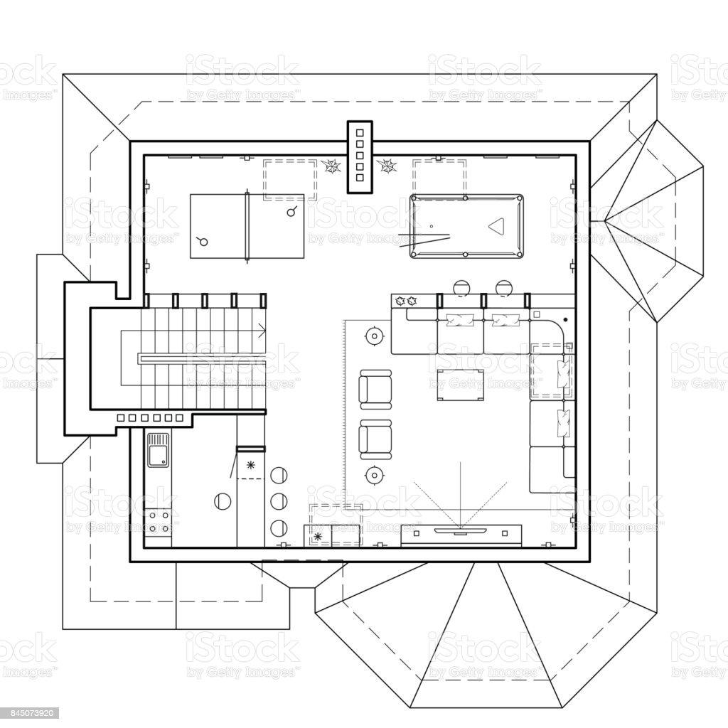 El tico de la casa plano arquitect nico de una casa for Cocina plano arquitectonico