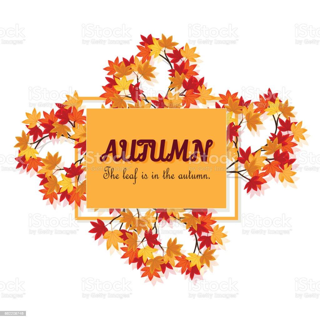 Sonbahar Kartı Liquidambar Styraciflua Sonbaharda Var Bu Vektör