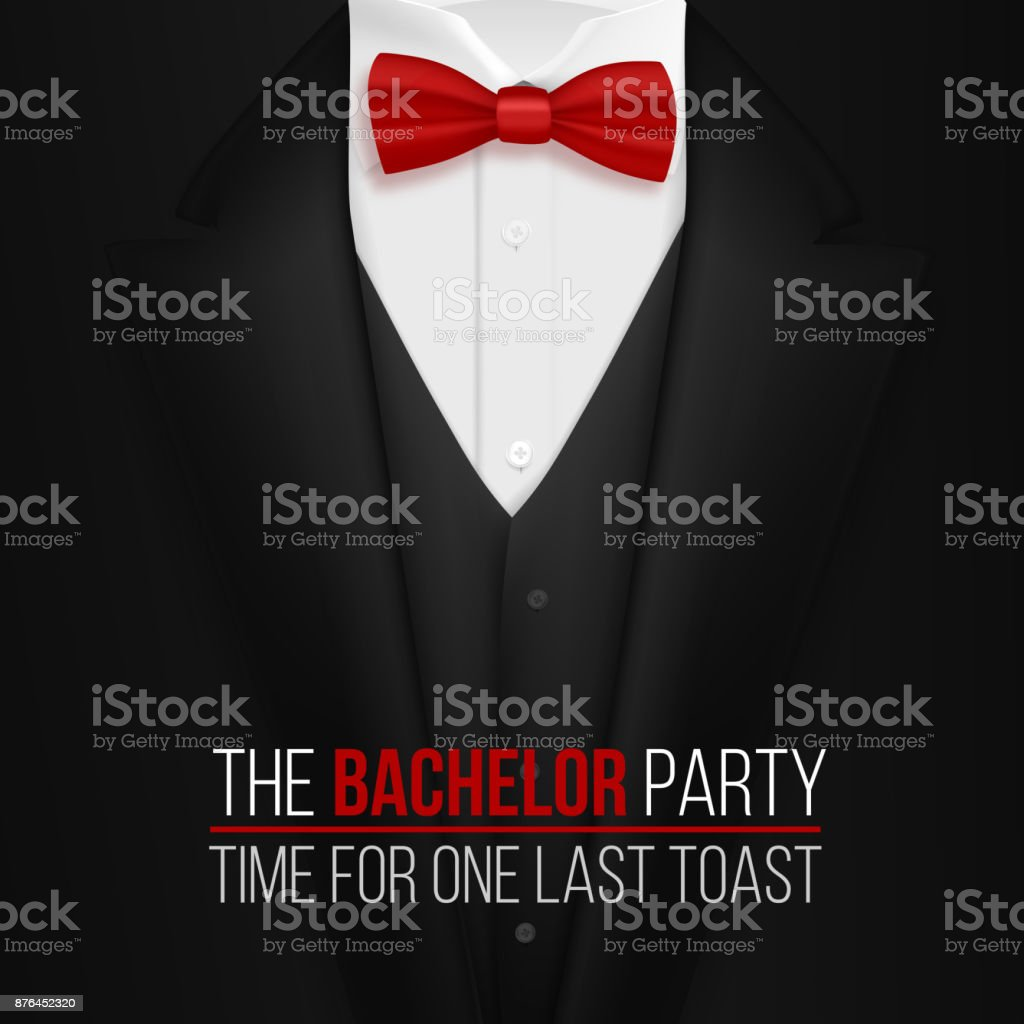 the bachelor party invitation template realistic 3d vector black