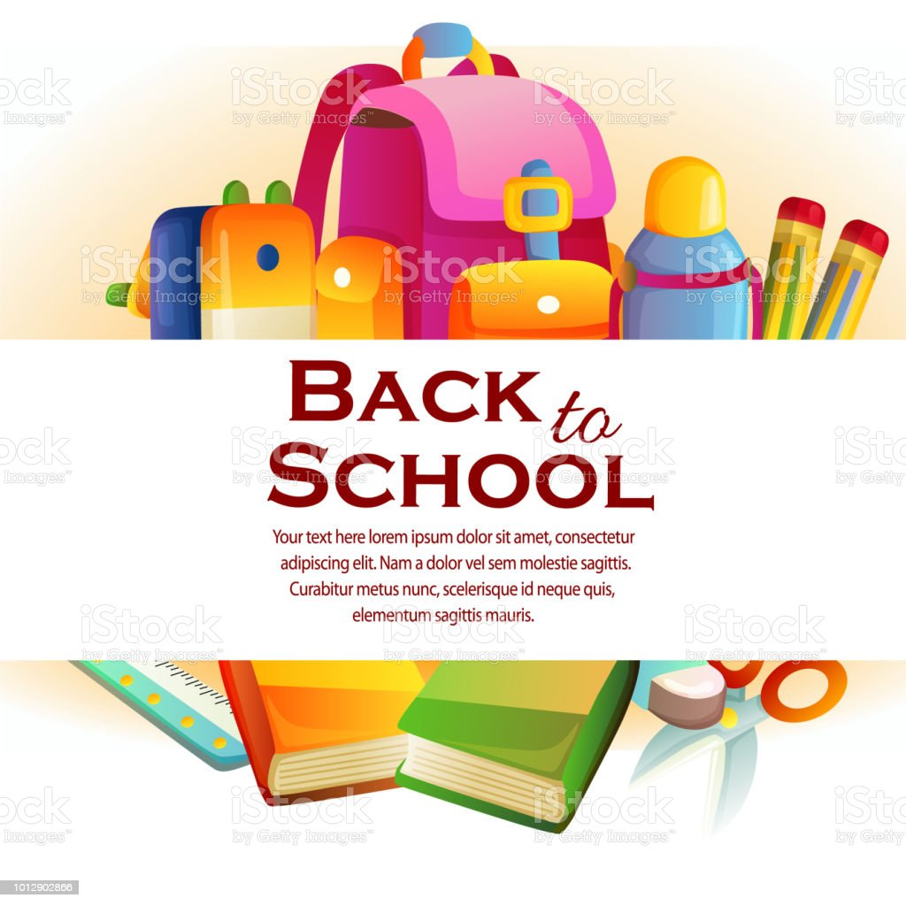 the back to school theme with stationary stock vector art more