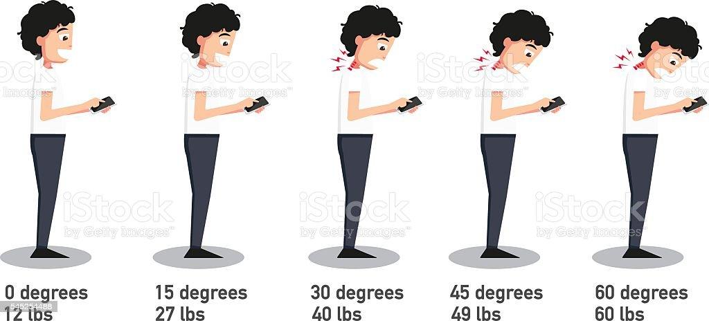 Ilustración de La Mala Posturas De Teléfonos Inteligentes y más ...