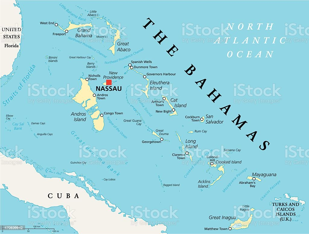 The Bahamas Political Map Stock Vector Art & More Images of 2015 ...