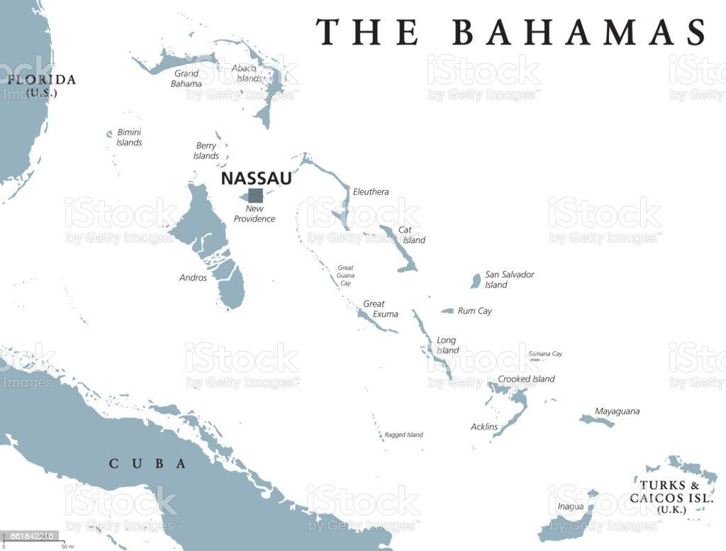 The Bahamas Political Map Stock Vector Art IStock - Political map of austria