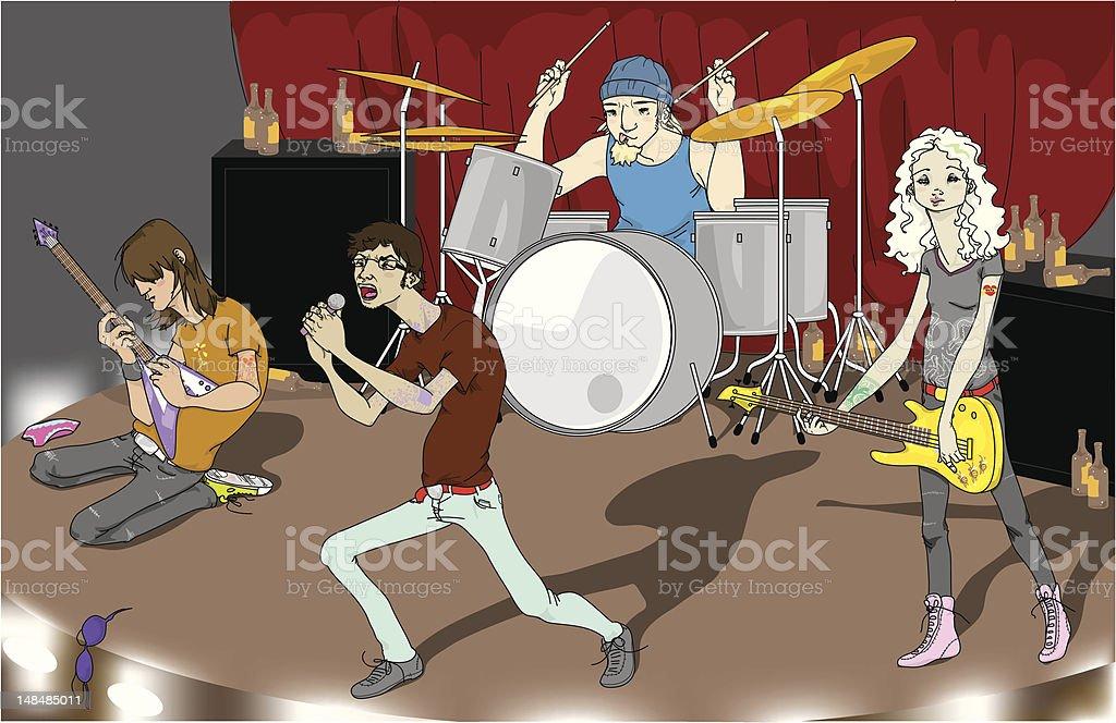 The Band vector art illustration