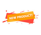 The banner with New Product is depicted on a white background.