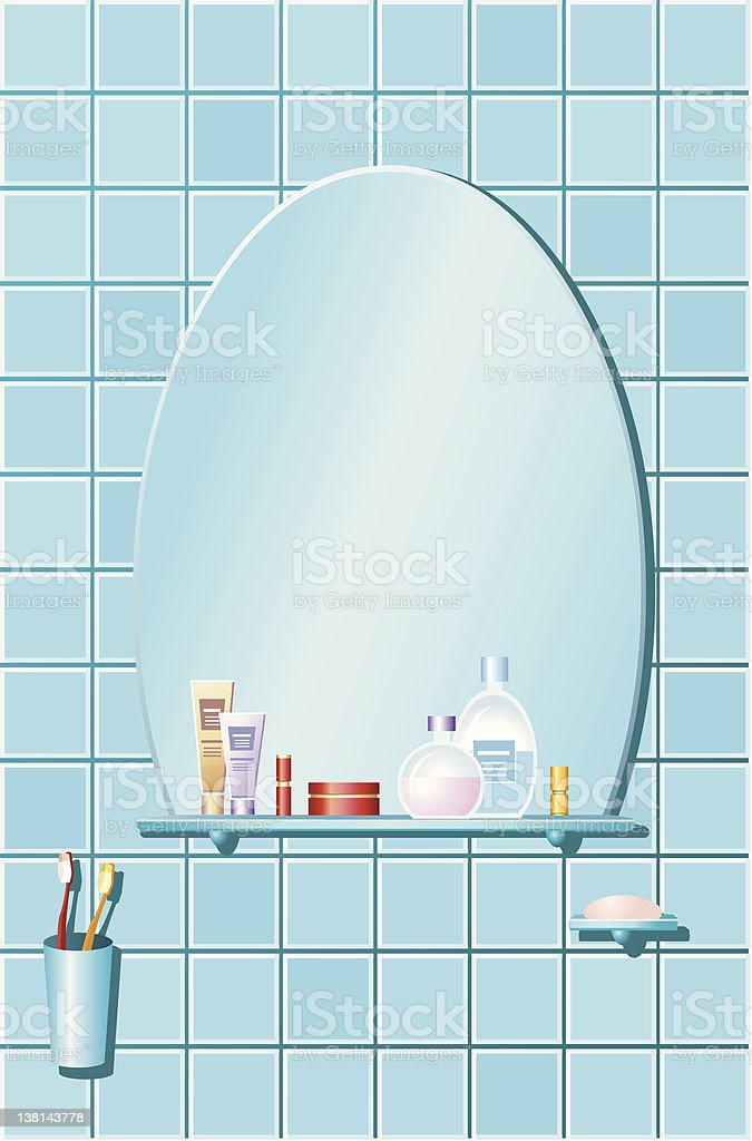 The bathroom vector art illustration