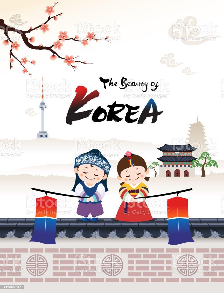 美しいの韓国 のイラスト素材 869622846 | istock