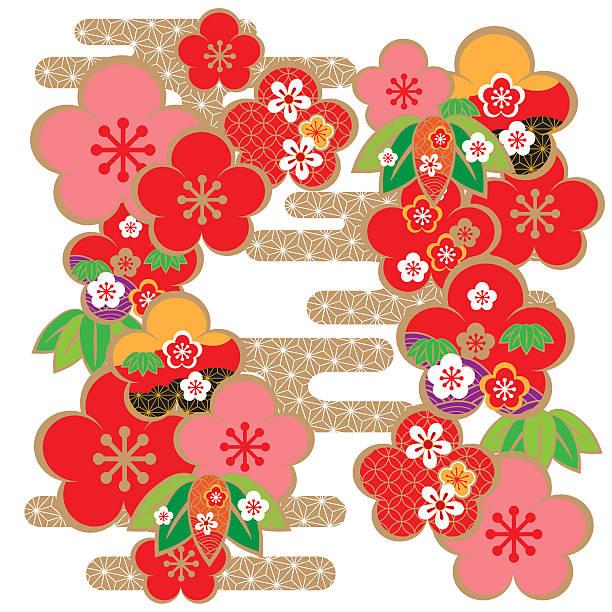 日本の美しい模様 - 新年点のイラスト素材/クリップアート素材/マンガ素材/アイコン素材