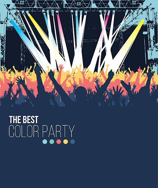 最高のパーティ - ステージのイラスト点のイラスト素材/クリップアート素材/マンガ素材/アイコン素材