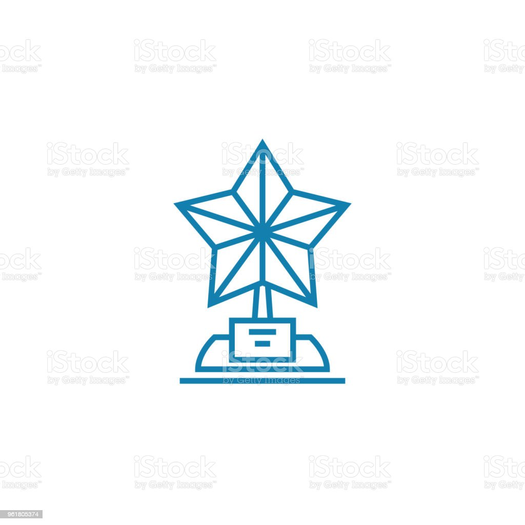 The best in the industry linear icon concept. The best in the industry line vector sign, symbol, illustration. vector art illustration